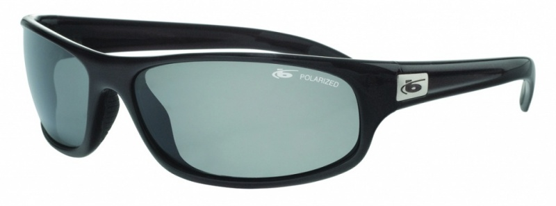 Bolle Sunglasses Anaconda Shiny Black, Polarised TNS Grey Smoke Lenses