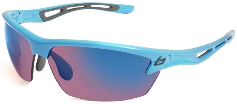 Bolle Sunglasses Bolt Shiny Blue with Rose Blue Lenses