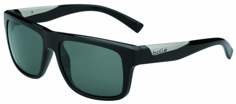 Bolle Sunglasses Clint Shiny Black, Polarised TNS Oleo AR Lenses