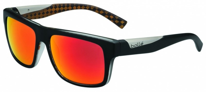 Bolle Sunglasses Clint Matte Black Orange with Polarised TNS Fire