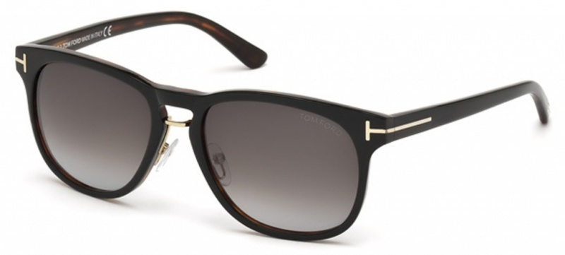 Tom Ford Sunglasses 346 Shiny Black Grey Gradient