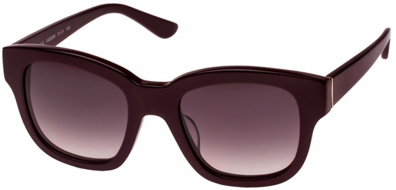 Oroton Sunglasses Adele Bordeaux Smoke Brown Gradient