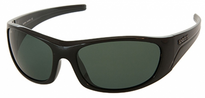 Spotters Alpha Sunglasses Matt Black, Grey Polarised Lenses