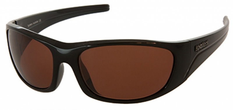 Spotters Alpha Eyewear Shiny Black Copper Halide Photochromic Polarised Lenses