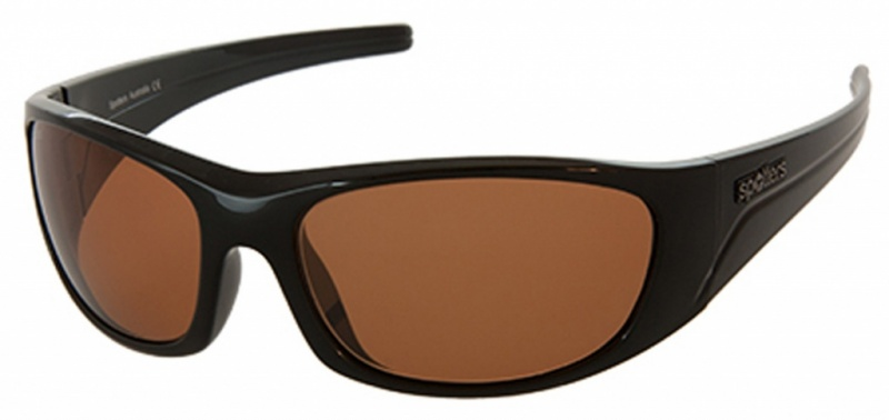 Spotters Alpha Matt Black Sunglasses Grey Polarised Lenses