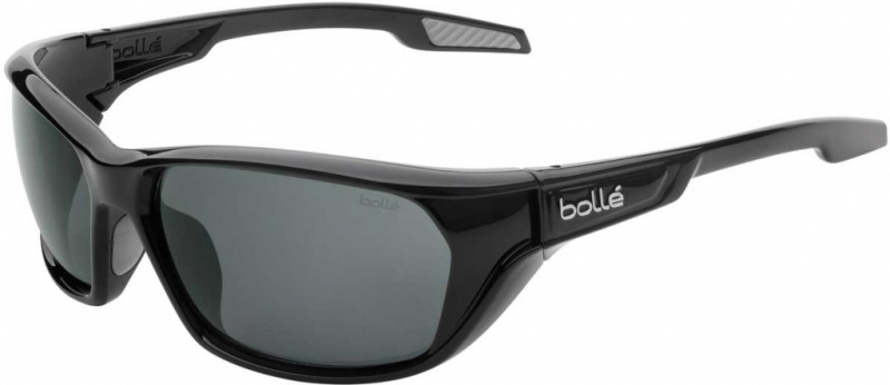 Bolle Aravis Shiny black Sunglasses with Polarised TNS Lenses