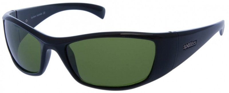 Spotters Sunglasses Artic + Gloss Black Emerald Glass
