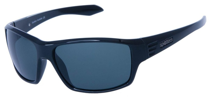 Spotters Blaze Sunglasses Gloss Black CR Grey