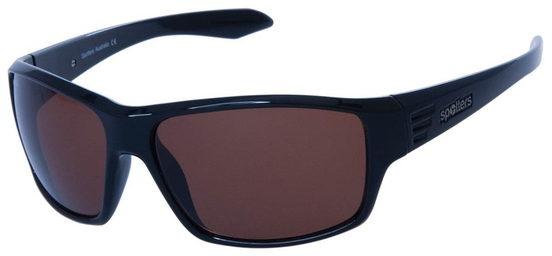 Spotters Mens Sunglasses Black, Copper Halide Polarised