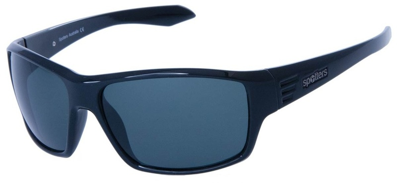Spotters Sunnies Blaze, Black Stone Polarised Lenses