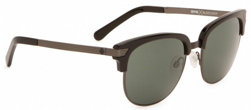 Spy Sunglasses Bleecker Black Grey Green Happy Lenses