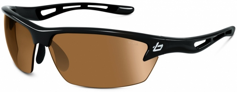 Bolle Bolt Shiny Black, Photo V3 Golf Lenses Mens Sunglasses