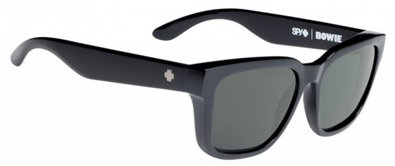Spy Bowie Sunglasses Black Happy Grey Green
