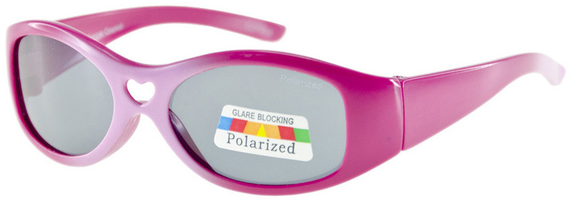 Kids Cancer Council Sunglasses Pink Fade Grey Polarised