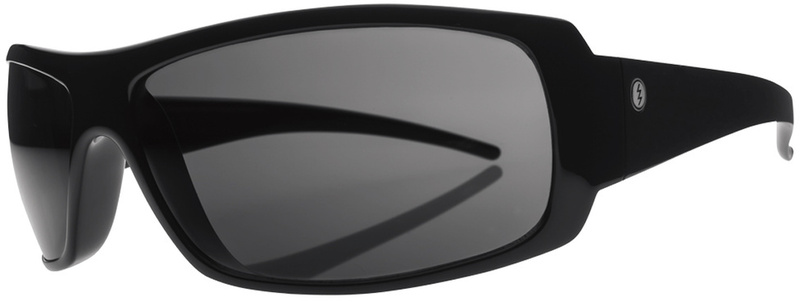 Electric Charge Gloss Black Sunglasses with Grey Poly Polar Lenses