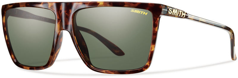 Smith Cornice Sunglasses Yellow Tort with Gray Green Lenses