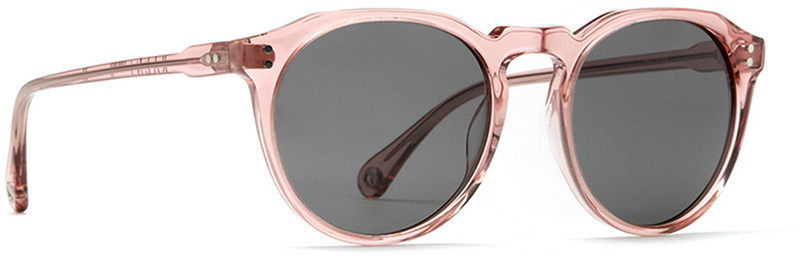 Raen Remmy Sunglasses Crystal Rose with Grey Lenses