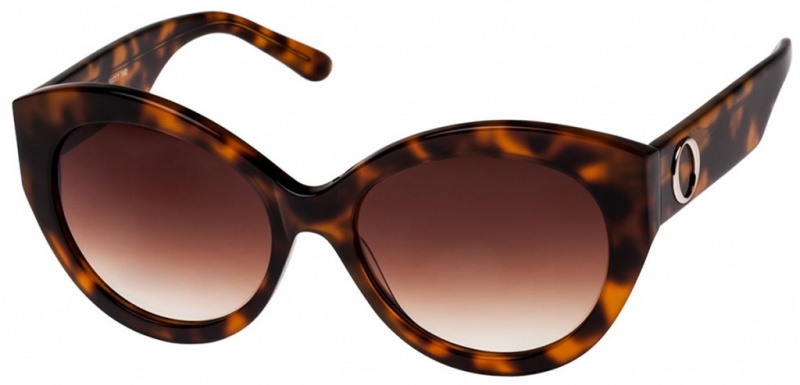 Oroton Sunglasses Delphine Tort Brown Gradient