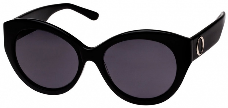 Oroton Sunnies Delphine Black Grey Lenses