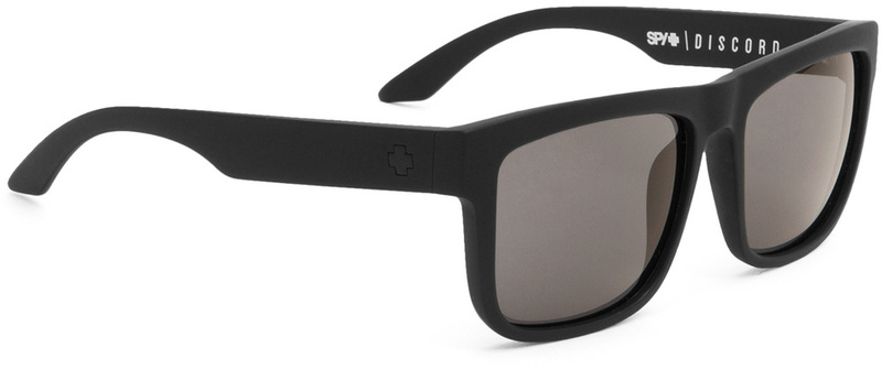 Spy Discord Matte Black with Grey Polarised Lenses Mens Sunglasses