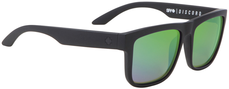 Spy Discord Matte Black Mens Sunglasses, Happy Bronze Polarised Green Spectra Lenses
