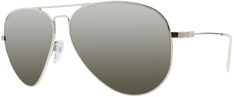 Electric AV 1 XL Platinum Grey Silver Chrome Sunglasses