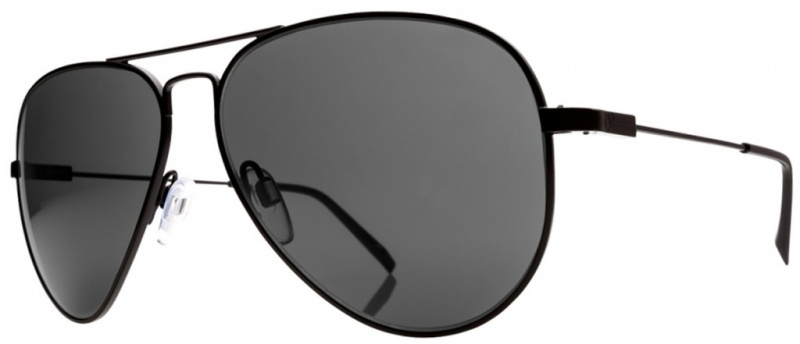 Electric Sunnies AV1 Large Black with Grey Lenses