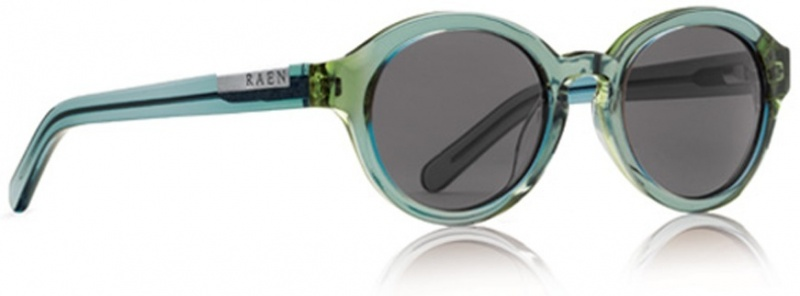 Raen Sunglasses Flowers Sea Glass with Smoke CR39