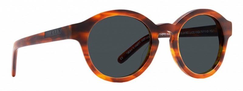 Raen Flowers Sunglasses Matte Rootbeer with Smoke Lenses