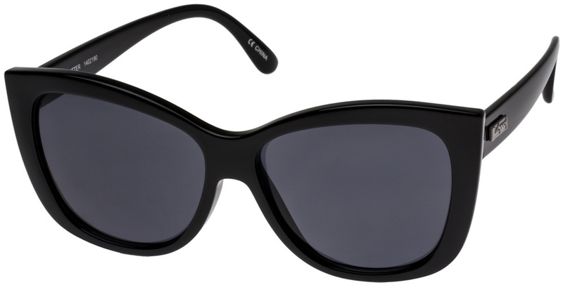 Le Specs Hatter Sunnies Black with Smoke Mono Lenses