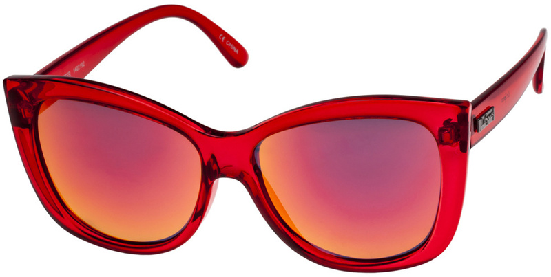 Le Specs Hatter Eyewear Scarlet with Red Revo Mirror Lenses