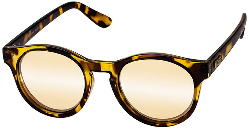 Le Specs Sunglasses Hey Macarena Syrup Tort, Gold Mirror Lenses