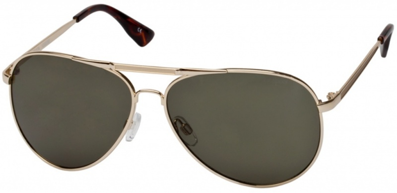 Le Specs Jamaica Gold with Green Mono Lenses