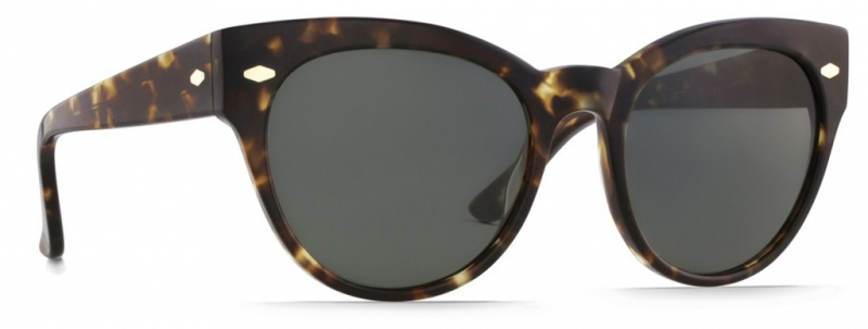 Raen Maude Sunglasses Brindle Tort, Green
