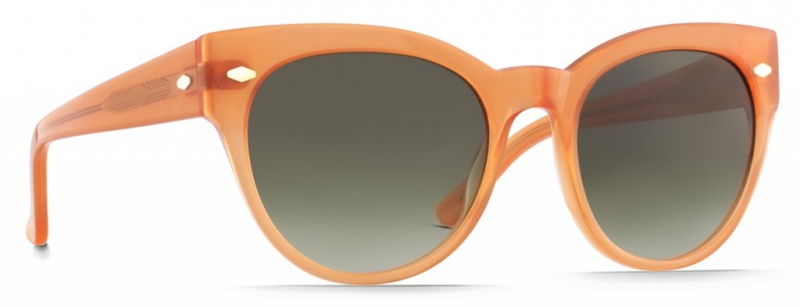 Raen Sunnies Maude Coral Crystal, Green Gradient Lenses