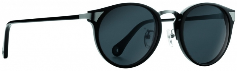 Raen Sunglasses Nera Black and Silver with Smoke Lenses