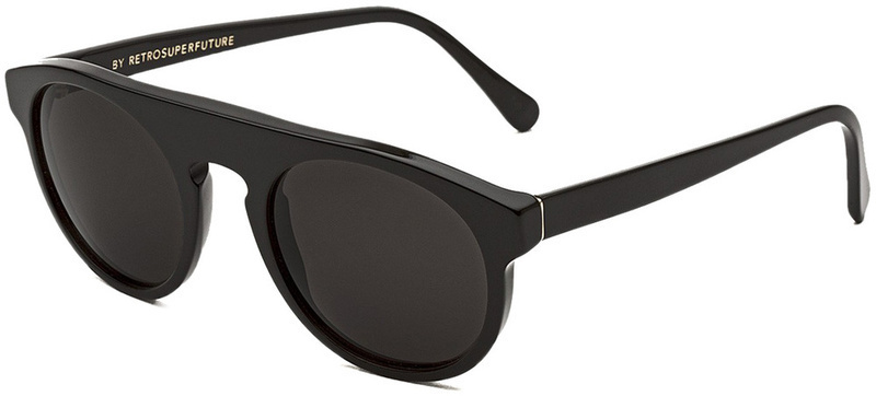 Retro Super Future Sunglasses Racer Black with Grey Lenses