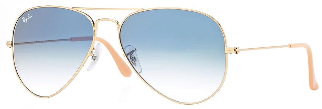 Gold/Light Blue Gradient Glass Lenses 58 Eye Size