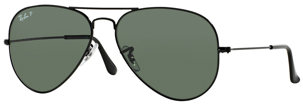 Black/Green Glass Polarised Lenses 58 Eye Size