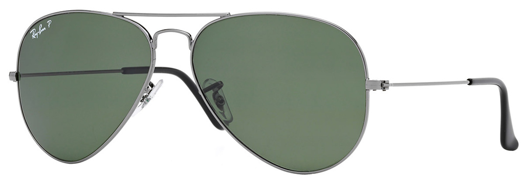 Gunmetal/Green Polarised Glass Lenses 58 Eye Size