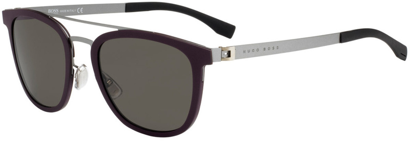 Boss By Hugo Boss 0838/S Burgundy and Silver, Brown Grey Lenses