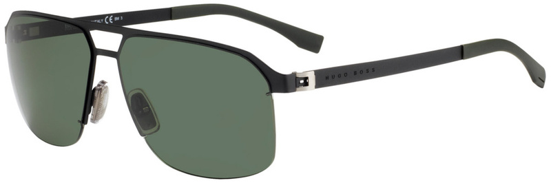 Boss By Hugo Boss 0839/S Matte Black, Grey Green Lenses