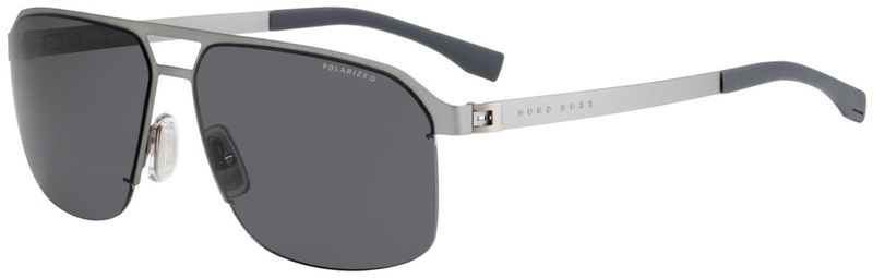 Boss By Hugo Boss 0839/S Matte Silver, Grey Polarised Lenses