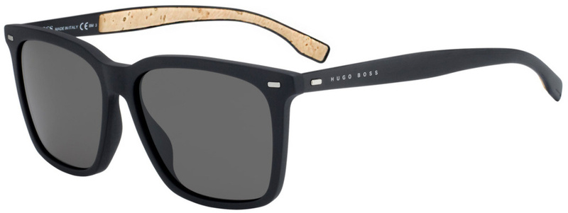 Boss By Hugo Boss 0883/S Matte Black, Brown Grey Lenses