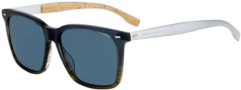 Boss By Hugo Boss 0883/S Brown and Blue, Blue Lenses