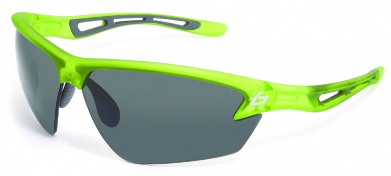 Bolle Draft Satin Green with TNS Grey Smoke Lenses Mens Sunglasses