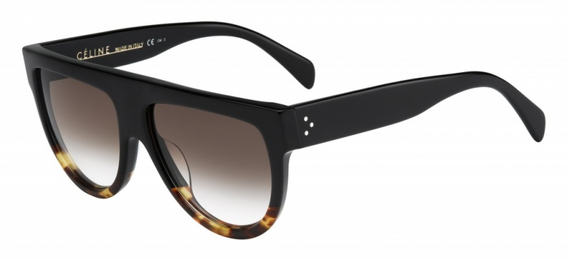 Celine Shadow Black and Tort with Brown Gradient Lenses