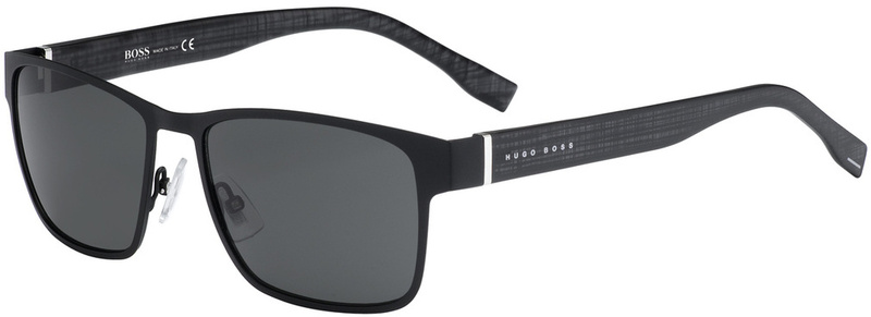 Boss By Hugo Boss Sunnies 0769/S Matte Black, Grey Lenses