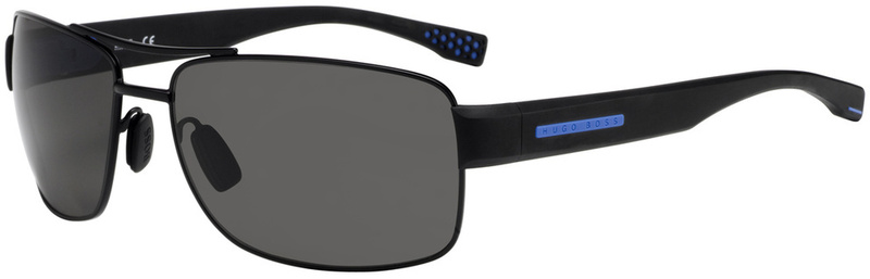 Boss By Hugo Boss Sunnies 0801/S Matte Black, Grey Lenses