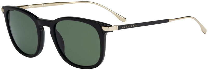 Boss By Hugo Boss Sunnies 0783/S Matte Black, Grey Green Lenses